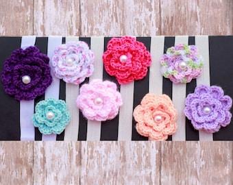 Crochet Flower Headband, Spring Headband, Easter Headband