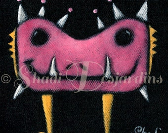 "Fine Art Painting Print of ""Pinkeye"" by Shadi Desjardins"