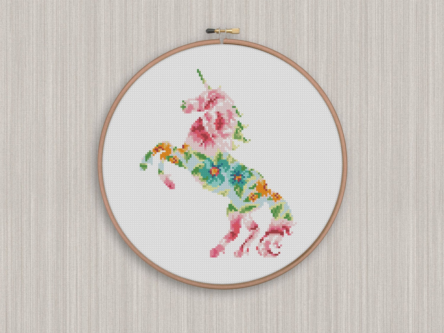 Playful image regarding free printable unicorn cross stitch patterns