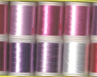Boxed Set of Machine Embroidery Threads by Wonderfil