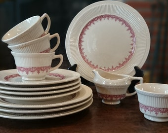 Vintage Staffordshire by Shenango Pottery Co. New Castle, PA USA/ Restaurant China/ Pink and Off-white