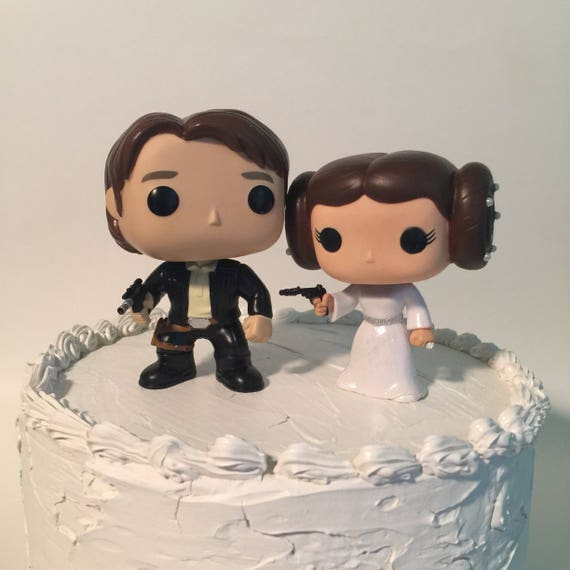 Star Wars Wedding Caketopper Funko Pop Han And Leia