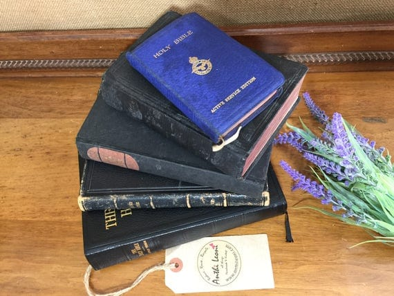 Holy Bible - Book of Common Prayer - Rare RELIGIOUS Books - BLACK and Gold Books