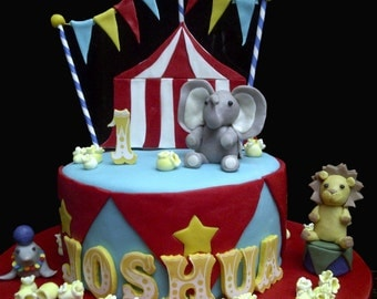 Custom Circus Carnival Edible Cake Topper Set