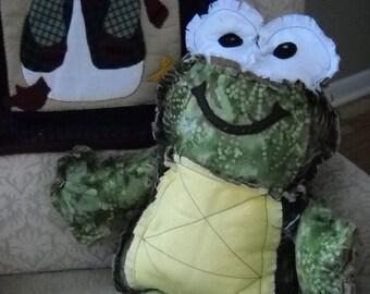Stuffed frog pillow