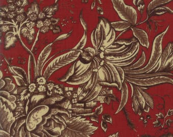 Moda Rachel Remembered Quilt Fabric 1/2 Yard By Betsy Chutchian Turkey Red 31540 18