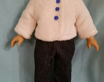 """Dixie-crafted Winter Woolly outfit is designed to fit 18"""" Dolls including those from the American Girl Company"""