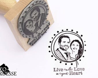 Photo stamps - face stamp – stamps personalised with your photo - wedding stamp
