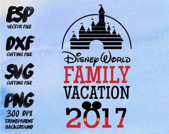 Disney family vacation mickey Clipart , SVG Cutting , ESP Vectors files , T shirt , iron on , sticker ,Personal Use
