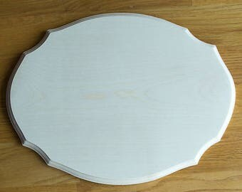 Large Solid Sycamore Fancy Shaped rectangular Plaque