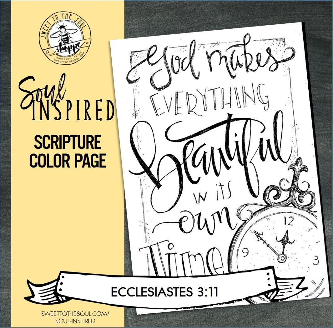 ecclesiastes 3 1 coloring pages - photo#18