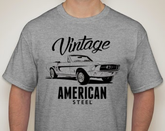 Ford Mustang Convertible T Shirt Vintage 1965 Ford Mustang Tshirt