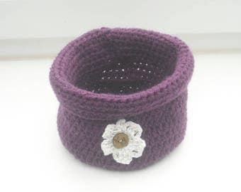 Punnets - Häkelutensilo - basket - crochet basket - handmade