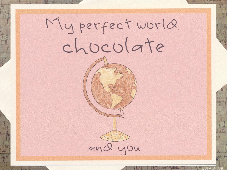 I Love You Card Funny Romance Card Chocolate Card Funny Love Card