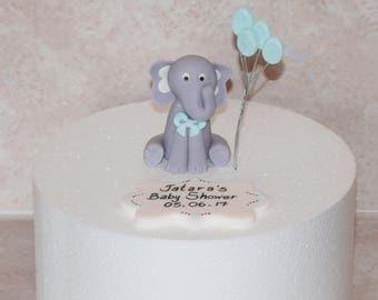 Little Elephant Cake Topper, Baby Shower or Birthday Customizations, Elephant Birthday Cake Topper Set