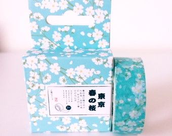 White and blue cherry blossom washi tape // wedding decoration