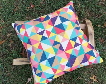 The Circus | Colorful Triangle Pattern Cushion Cover | Retro Abstract Modern Beautiful Cushion cover  | Decorative Cover