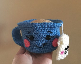 Crochet Teacup Sewing Pincushion, Toy, Plushie, Doll, Amigurumi