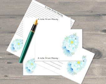 The Blue Bouquet  letter writing set, letter writing paper set, letter writing stationary, letter writing paper, correspondence cards