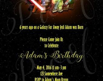 Lego Star Wars Birthday Invitation
