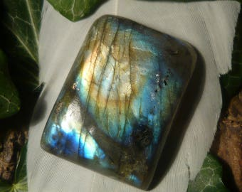 Labradorite Cabochon, 40.8ct Rectangular Shape