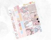 Something Borrowed HORIZONTAL Kit - Matte Glossy Erin Condren Horizontal Planner Stickers -