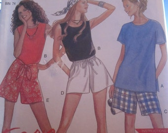 New Look 6391 shorts and top pattern for women size small to xlarge
