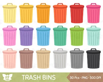50% OFF Trash Bin Clipart, Trash Can Clip Art, Garbage Bin Cliparts, Cleaning Environment Clean Icon Graphic PNG Download, Commercial Use