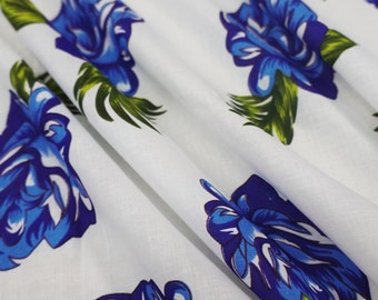 """Dressmaking Fabric Cotton Fabric For Sewing Designer White Floral Print Indian Fabric 100% Cotton 41""""Wide Drape Dress By The Yard ZBC6182"""