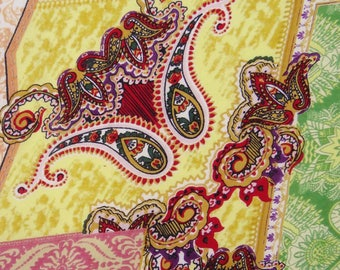 """Dressmaking Fabirc, Paisley Print, Decorative Fabric, Quilt Material, Craft Fabric, 50"""" Inch Cotton Fabric By The Yard ZBC7562A"""