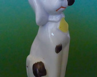 "Ceramic Spotted Seated ""Made in Japan"" Dog Figurine"