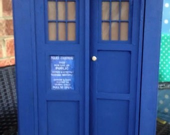 Doctor Who Inspired Model TARDIS - Handmade w Laser Cut Parts