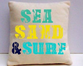 Sea Sand and Surf pillow