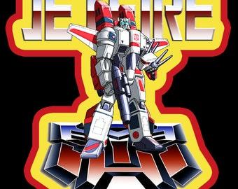 80's Cartoon Classic Transformers Autobot Jetfire custom tee Any Size Any Color