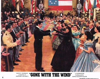 Gone With The Wind mini lobby card no 6. 1968 re-issue.