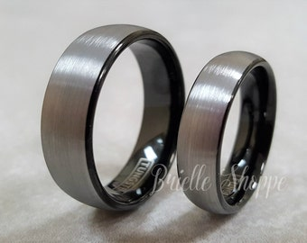 Tungsten Couple Ring | Etsy