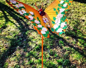 Metal garden art, yard art, metal garden art Butterfly