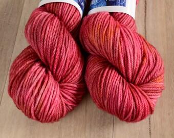 Berry Squish - DK 100% Australian Merino Hand Dyed Yarn