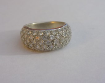 Sterling silver cz ring size 7