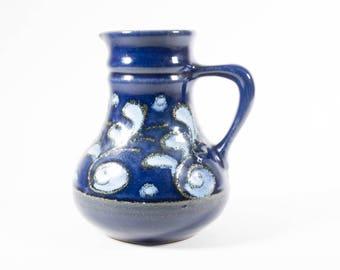 Strehla vase, East Germany, model 9022, Fat Lava, 60s, vintage