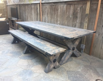X-Base Farmhouse Dining Table | Rustic Dining Table | Reclaimed Wood Dining Table | Scottsdale/Phx Area