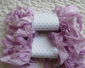 PRIMITIVE GRUNGY RIBBON - Just Lavender