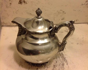Vintage white metal Syrup Pitcher
