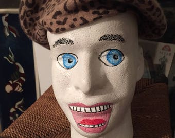 Styrofoam Painted Male Head