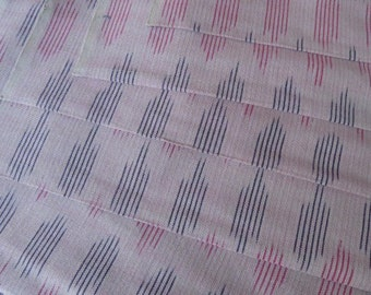 Peach Pink  Ikat Fabric By the Yard