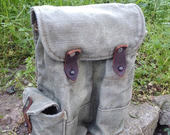 Vintage Canvas Soldier Belt Bag /  Military Belt Bag / Ammo Pouch / Army Belt Bag / Military  Belt Case / Canvas Waist Bag