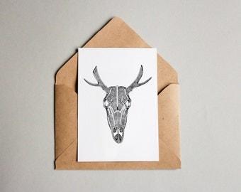 Deer Skull | A6 print