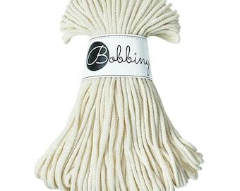 New! 3mm Bobbiny Rope – Natural (50m)