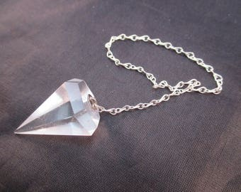 Quartz Crystal Pendulum - 6 Sided - Divination, Scrying, Dowsing, Healing, Aura, Chakra, Psychic Tool, Intuition, Meditation - Crystal Cave