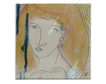 Original art 15 x 15 cm (5, 9 x 5, 9 inch) image by Holger Barghorn